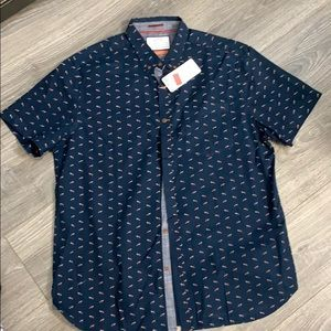 Denim and Flower slim fit size XL short sleeve